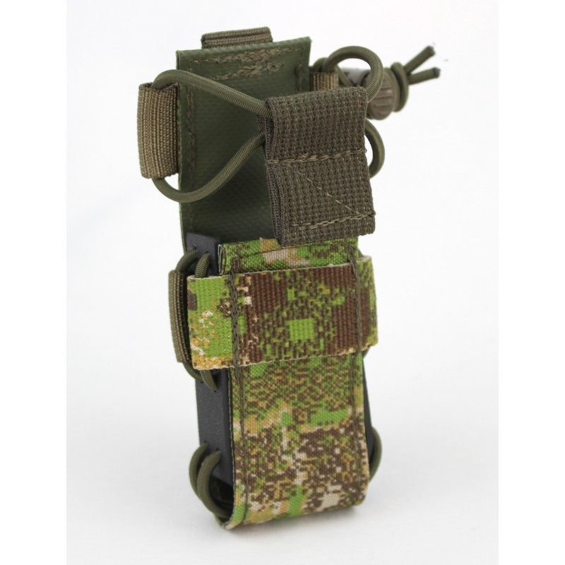 271 Universal Tactical Torch Holster on tactical radio pouch
